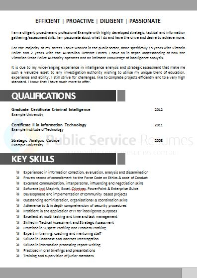 Government Resume Example    Public Service Resumes  Free