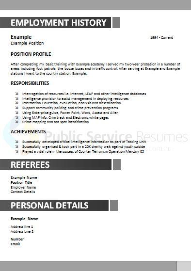 government resume example  u00bb public service resumes
