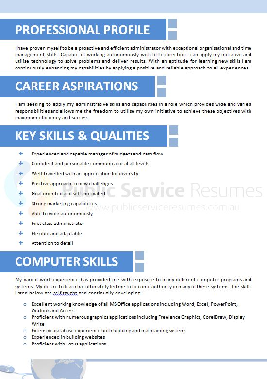 public sector information technology resume  u00bb it