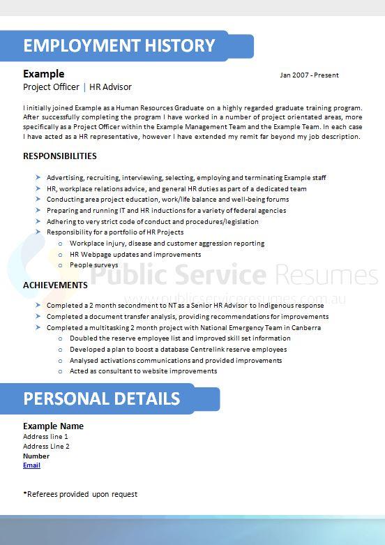 public sector blue resume  u00bb public service resumes