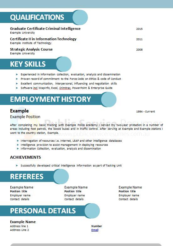 modern public service resume  u00bb government resume writing