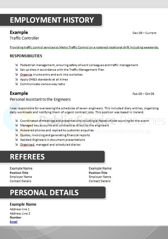 public sector grey resume  u00bb public service resumes  u00bb 1300
