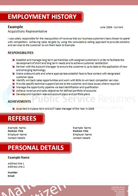 service resume 044 187 service resumes