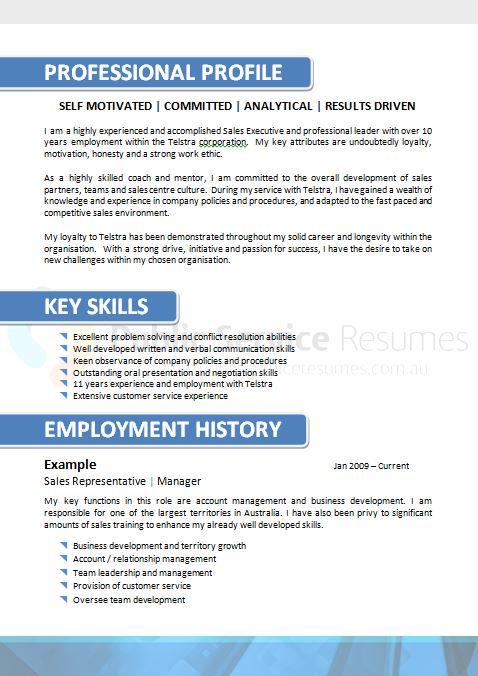 Quarter Resume Example