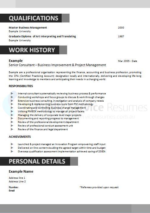 executive government resume  u00bb executive resume writing service