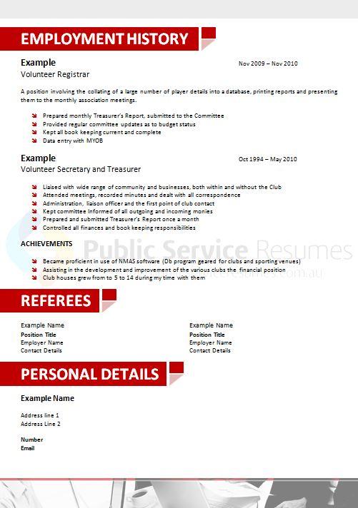 experienced leader resume design  u00bb public service resumes