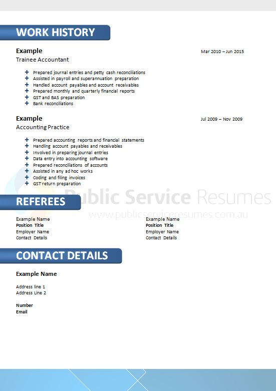 Government resume services