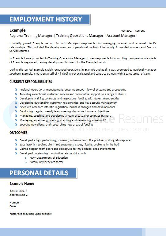 Public Service Resume 088 » Executive Blue Resume Design » Call Now