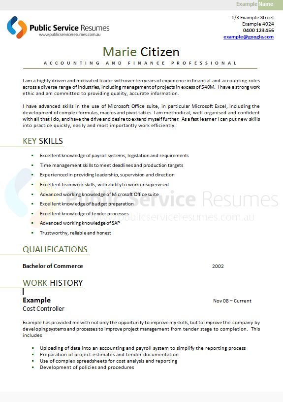 Government Senior Executive Resume Writing Service