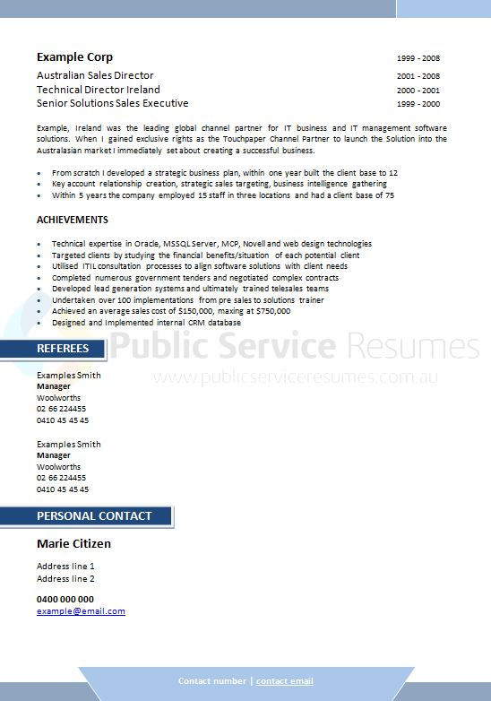 executive public sector resume  u00bb executive government