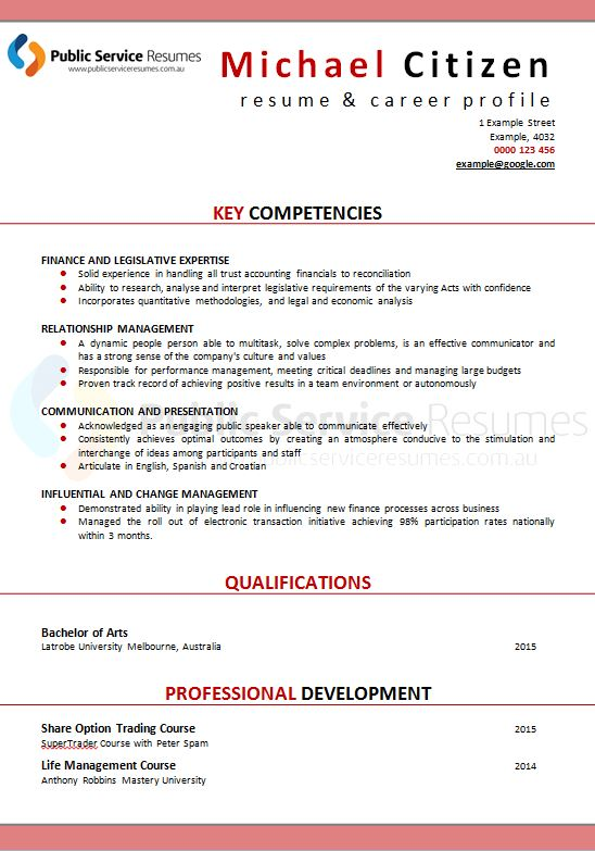 Public Service Senior Executive Resume Public Service Resume Writers