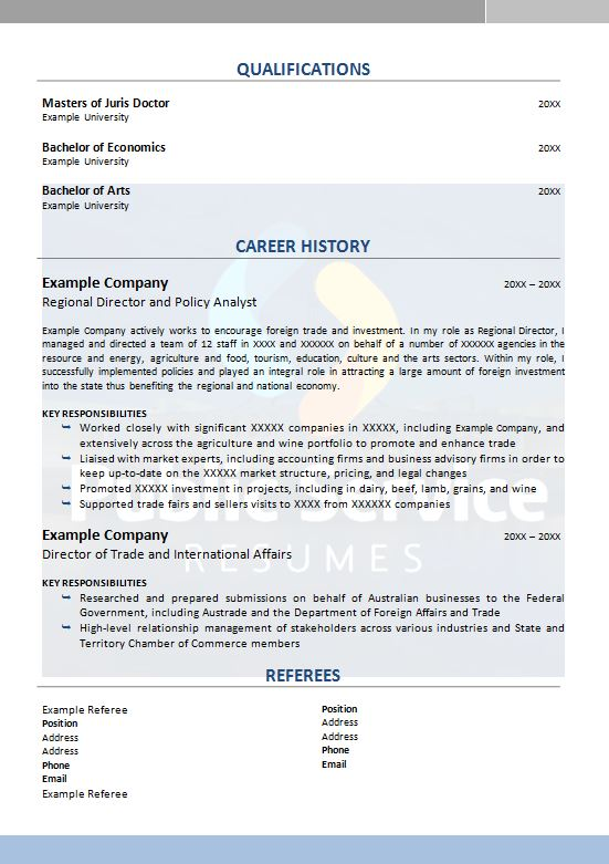 public service senior executive resume  u00bb public service