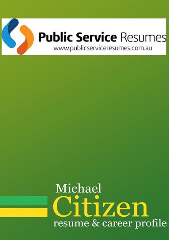Green public service resume example