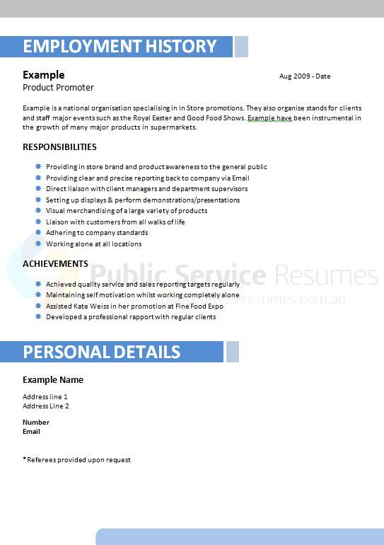 professional blue resume template design  u00bb public service