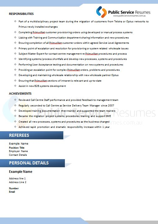 public service resume 094  u00bb blue simple professional