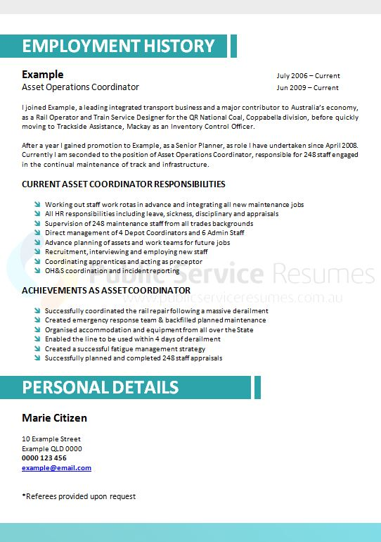 professional government resume design  u00bb public service resumes