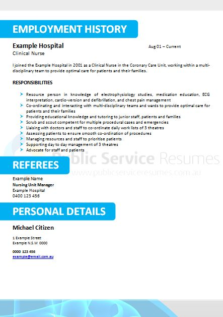 medical field government resume  u00bb public service resume writers