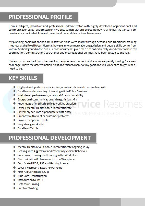 government medical resume  u00bb medical professional resume