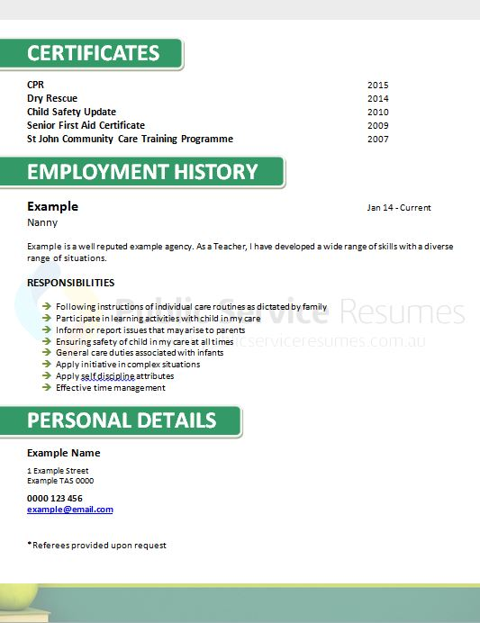 government teacher resume  u00bb public service resumes